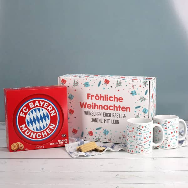 - Weihnachtsset für Bayern Fans mit Tassen und Keksdose - Onlineshop Geschenke online.de