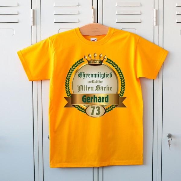 Geburtstags-T-Shirt für alte Säcke