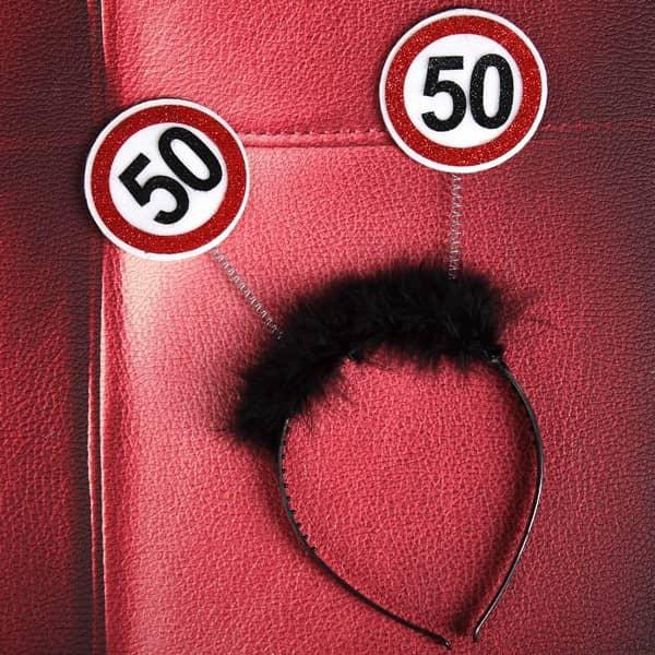 Haarschmuck zum 50. Geburtstag