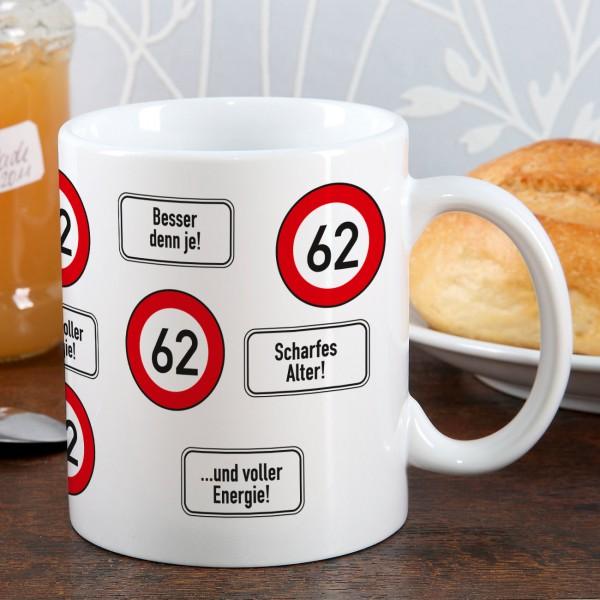 Kaffeetasse zum 62. Geburtstag!