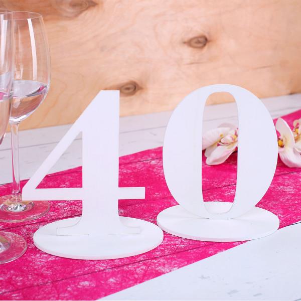 Tischnummer 40 für Geburtstag