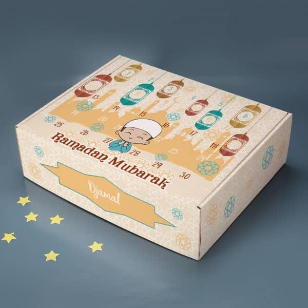 Ramadan Kalender für Jungen zum selbst Befüllen