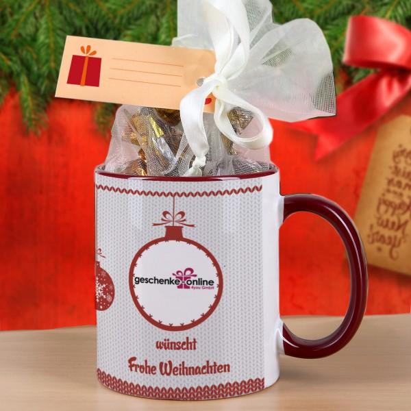 Weihnachtstasse mit Ihrem Firmenlogo