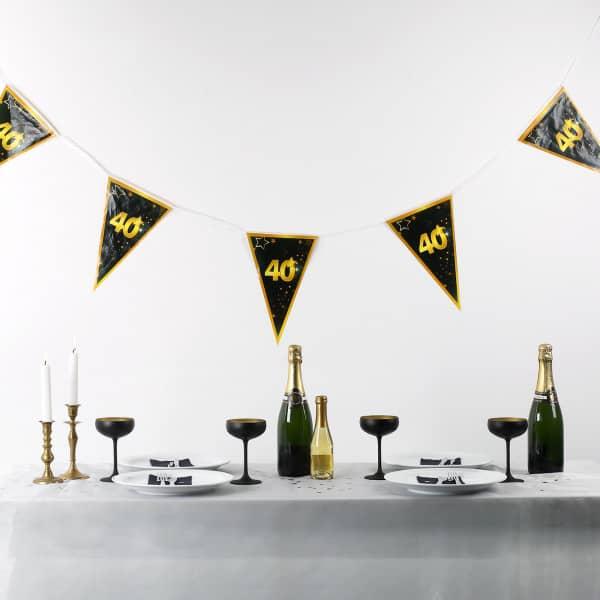 Wimpel Girlande zum 40. Geburtstag Star