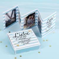 Mini Fotoalbum mit 4 Bildern und Wunschtext - Liebe ist das Einzige