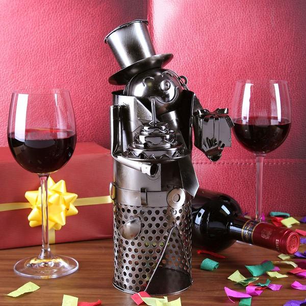 Flaschenhalter aus Metall zum Geburtstag